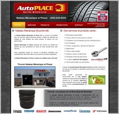 site web pour garage automobile au QUébec