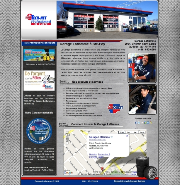 si internet pour garage carquest