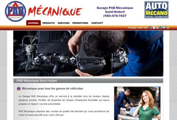 Site web pour garage Vast-Auto auto mcano