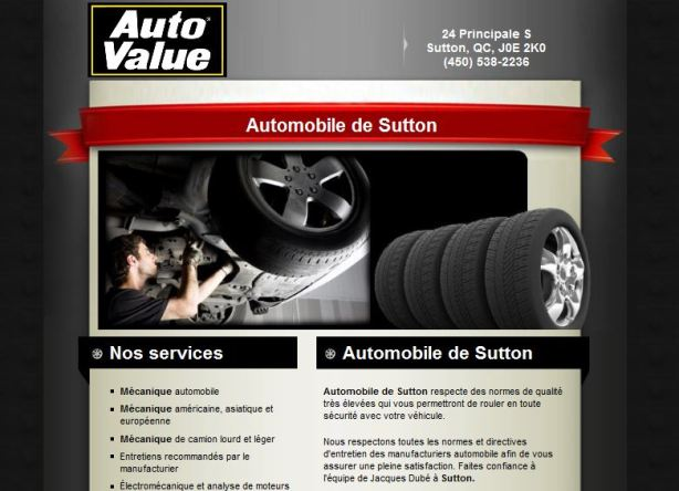 Site web pour garage Vast-Auto autovalue