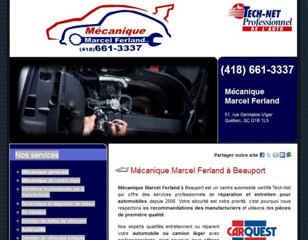 Site internet mécanique marcel ferland