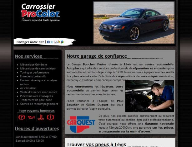 Site internet pour carrossier pro-color