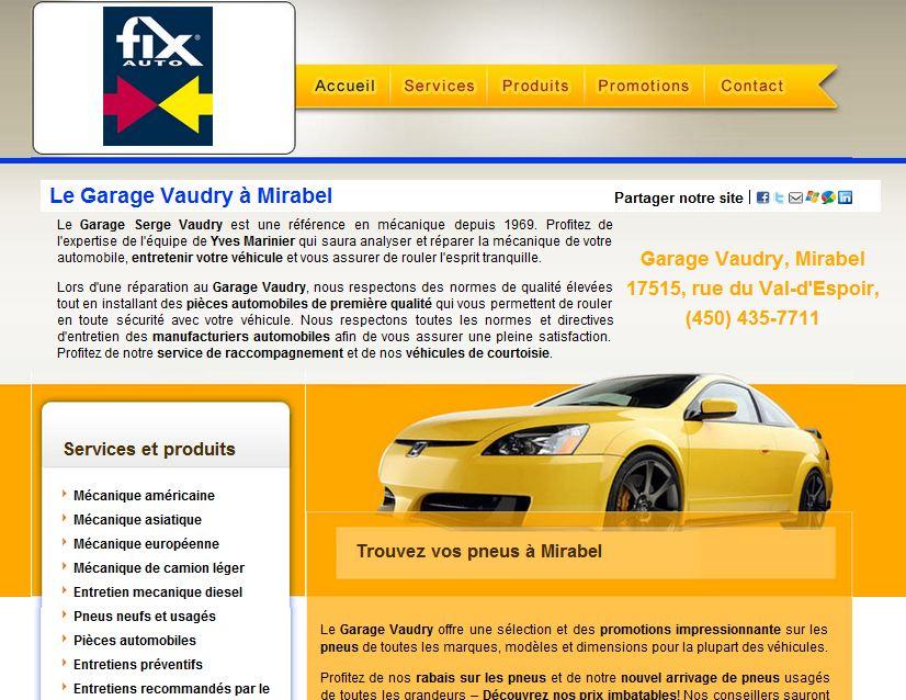 Site internet pour centre de carrosserie fix auto mon for Site internet pour garage automobile