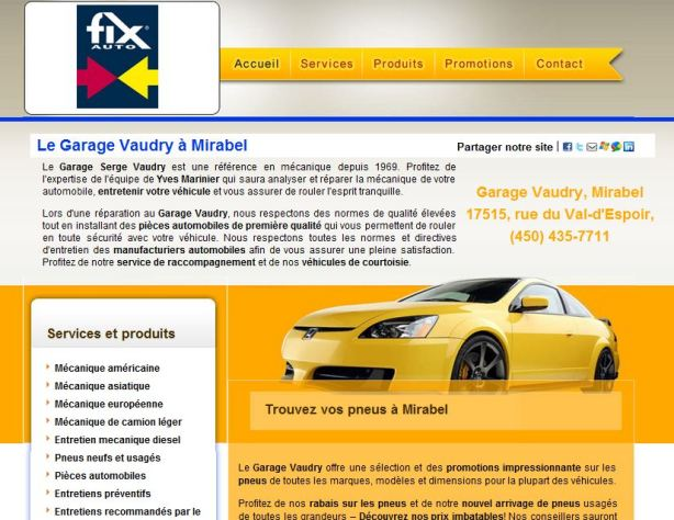 Site internet pour carrossier Fix-Auto