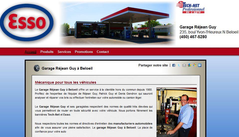 Site internet pour station service esso mon garage for Site internet pour garage automobile