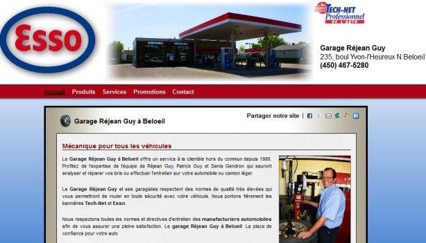 site internet pour garage esso