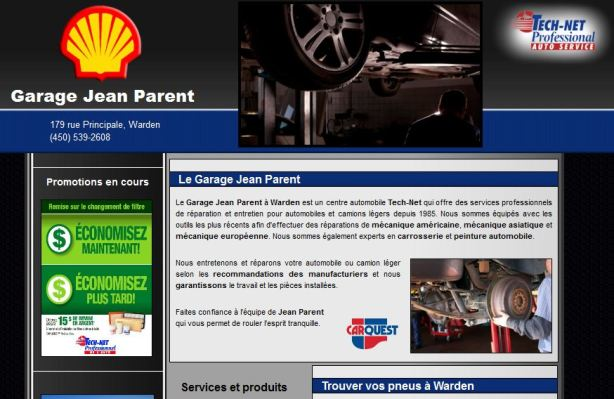 site internet pour garage shell