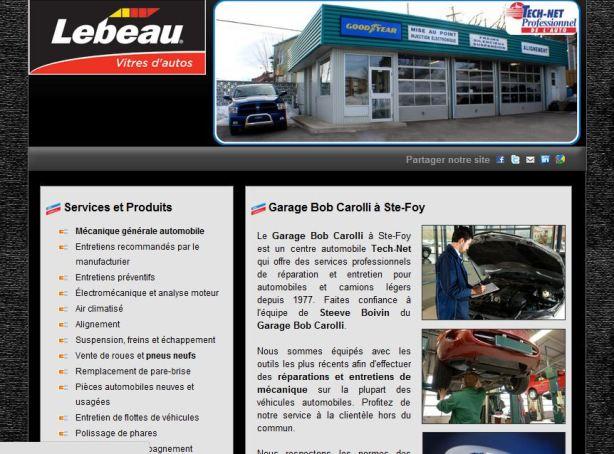 Site internet pour réparateur de pare-brise Lebeau Vitres d'autos