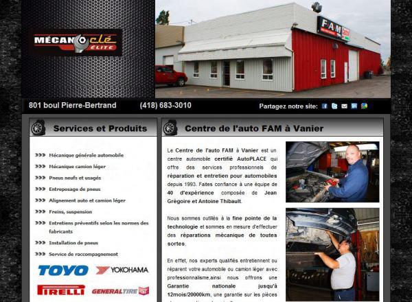 Site internet pour garage mécano-clé