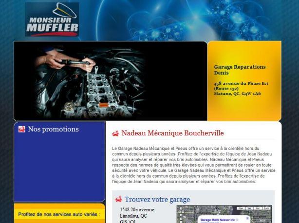 Site web pour garage Vast-Auto Monsieur Muffler