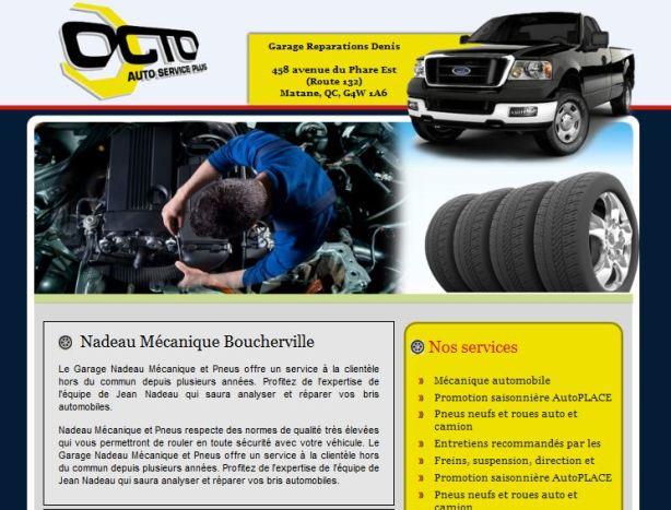 Site web pour garage Vast-Auto Octo