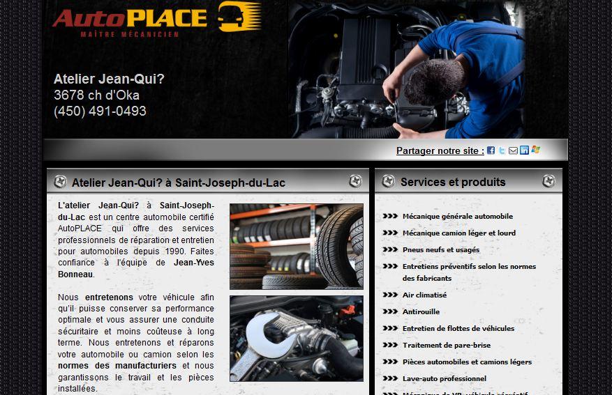 Site web pour garage autoplace carquest mon garage for Site internet pour garage automobile
