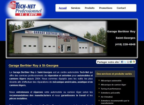 Site web pour garage carquest