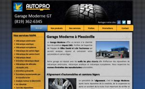 Site web officiel du Garage Moderne GT