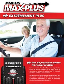 Garantie sur les risques routiers tels que les crevaisons et les bris de pneus neufs